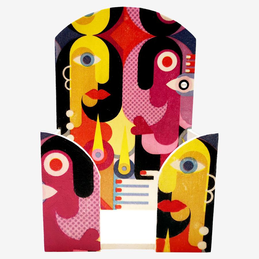 Picasso-mintás papírzsebkendő-tartó