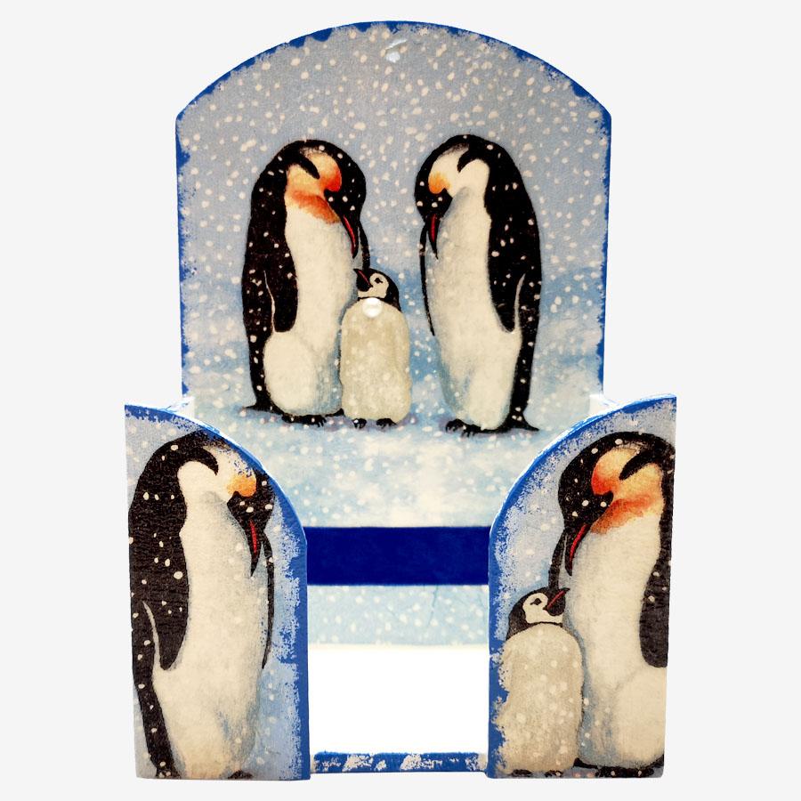 Pingvinmintás  papírzsebkendő-tartó
